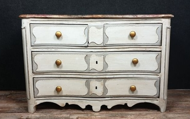 Parisian chest of drawers - Louis XIV period - Lacquered wood - First half 18th century