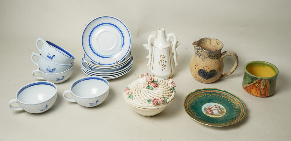 Porcelain and Pottery Cups and Dishes