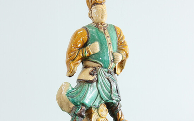 SCULPTURE, earthenware, China, later the Qing Dynasty, ming style.