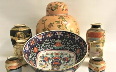 SELECTION OF EAST ASIAN CERAMICS including a large Chinese g...