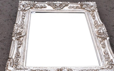 STUNNING QUALITY Large silver style framed wall mirror 120cm...