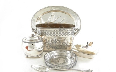 Silverplate table articles and serving pieces (21pcs)