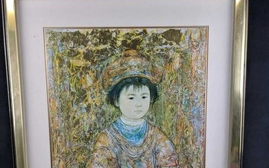 Sold Out Michio by Edna Hibel Exclusive Framed Print