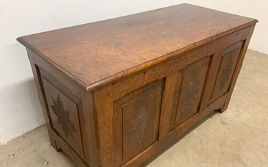 South Asian hard wood trunk with key. W:110cm x D:50cm x H:...