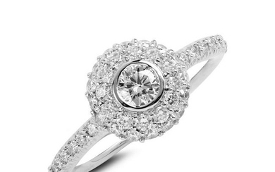 Stambolian White Gold and Diamond Cocktail Ring