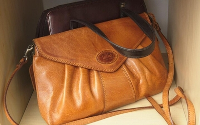 TWO LEATHER HANDBAGS INCLUDING MILLENI