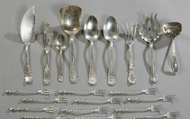 Twenty One Pieces of Sterling Silver, consisting of a