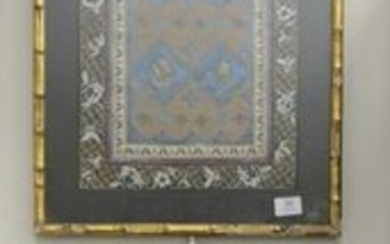 Two Chinese silk embroidered items to include framed