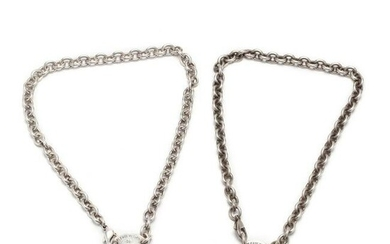 Two Sterling Silver Necklaces, Tiffany & Co.