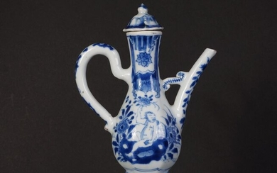 Very rare Antique Chinese blue and white porcelain wine jug from the Kangxi period (1) - Blue and white - Porcelain - China - Kangxi (1662-1722)