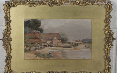 Wilfrid Ball - 'Streatley Mill' and 'Goring on Thames', a pair of watercolours