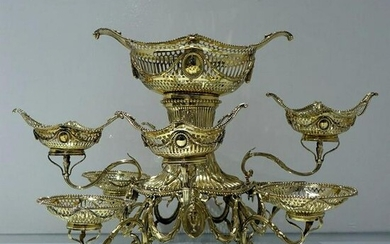19th Century Antique Victorian Sterling Silver Gilt