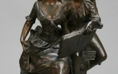 19th c. French sculpture, signed and dated