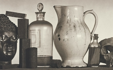 Irving Penn, Still Life with Skull, Pitcher and Medicine Bottle, New York