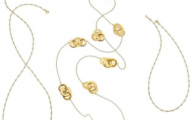 55094: Gold Necklaces, Tiffany & Co. The lot includes