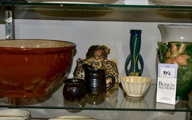 (9) Porcelain and Pottery Pieces