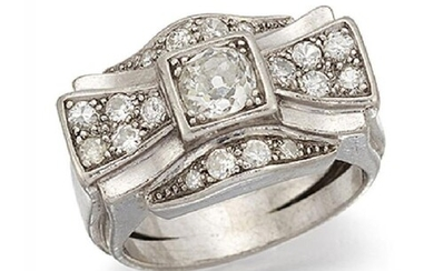 A 1940's diamond cluster ring, designed as...