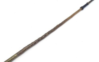 A 19th / 20thC hardwood walking stick / cane with