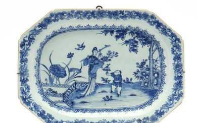 A Chinese Blue and White Serving Platter