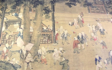 A Chinese Scroll Depicting Children in The Garden