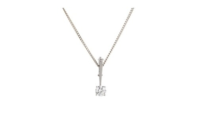 A DIAMOND SOLITAIRE PENDANT, the brilliant cut diamond to a ...