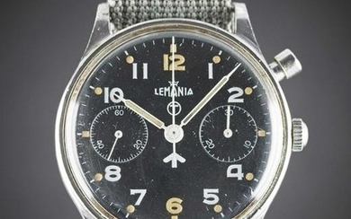 A GENTLEMAN'S STAINLESS STEEL BRITISH MILITARY LEMANIA
