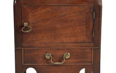 A George III mahogany night commode