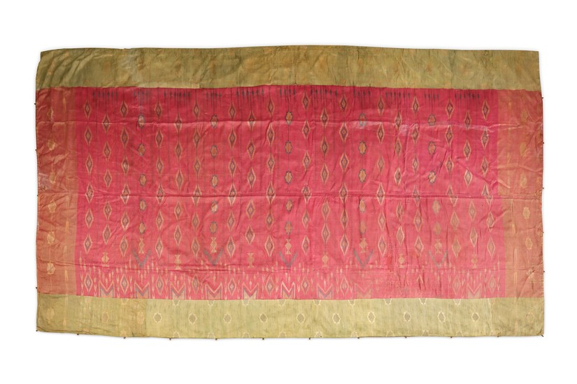 A LARGE SILK HANGING