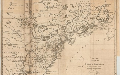 """""""A New and Correct Map of North America in Which the Places of the Principal Engagements During the Present War, Are Accurately Inserted"""", Lodge, John"""