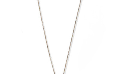 A fancy coloured diamond heart pendant, and a chain by Tiffany