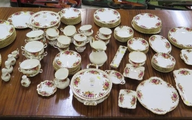 A large collection of Royal Albert Old Country Roses, tea an...