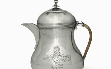 A silver coffee pot, Venice, early 1800s