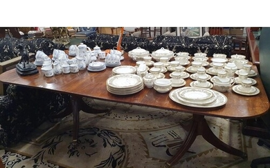 A superb Georgian Mahogany twin pedestal Dining Table the to...