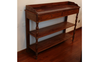 A walnut etagere