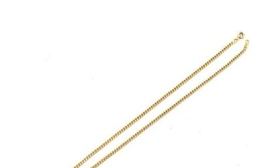 A yellow gold necklace, 18 k 950°/00, chain...