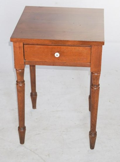 American Federal Walnut One Drawer Side Table