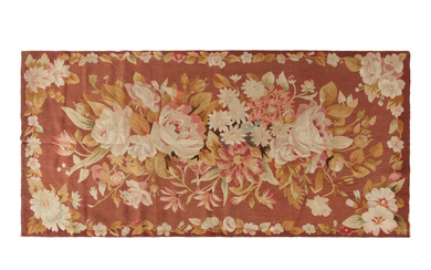 An Aubusson Style Floral Tapestry Panel