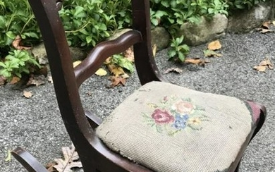 Antique 19th C Child or Doll Size Rocking Chair