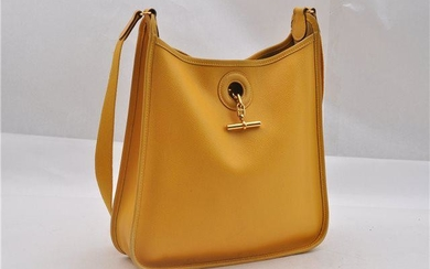 Authentic HERMES Leather Shoulder Bag
