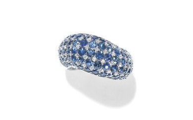 BAGUE SAPHIRS ET DIAMANTS | SAPPHIRE AND DIAMOND RING