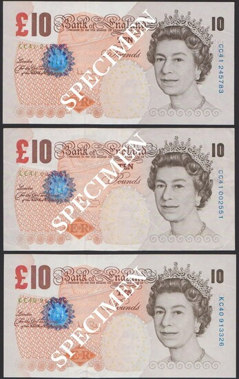 Bank of England, Andrew Bailey (2004-2011), £10 (3), ND (2004), serial number prefix CC41, also...