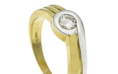 Brillant ring GG / WG 585/000 with one...