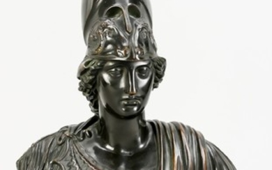 Bust of Athena, France, 19th century, finely crafted,...