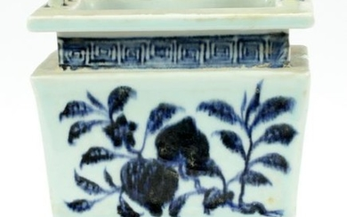 "CHINESE PORCELAIN INCENSE VESSEL, H 10"", W 6.5"""