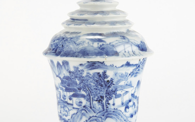 Chinese Thai Market Blue and White Porcelain Cup/Altar Vessel