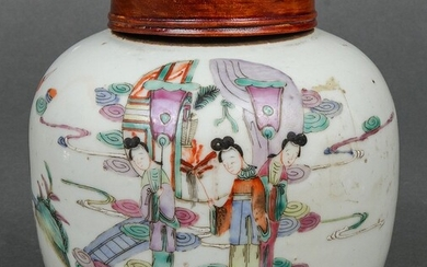 Chinese Tung Chih Famille Rose Porcelain Jar