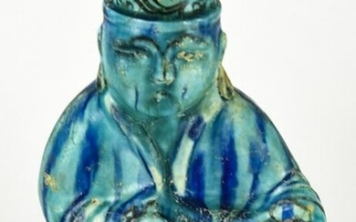 Chinese Turquoise Glaze Pottery Figural Vessel