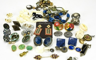Collection Vintage Costume Jewelry Incld Earrings