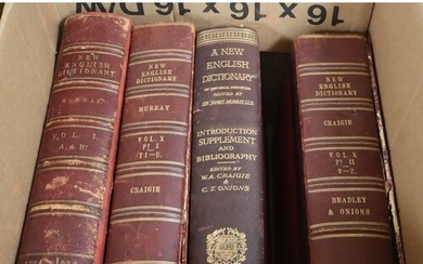 Craigie, 'New English Dictionary' Vol X Part 1 and 2, and 13...