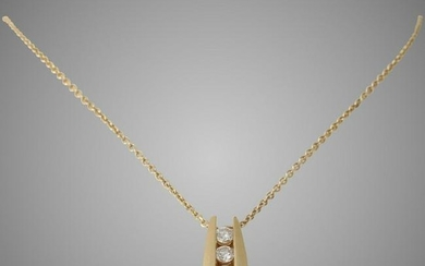 Diamond Pendant Necklace | 14K Yellow Gold | Brilliant